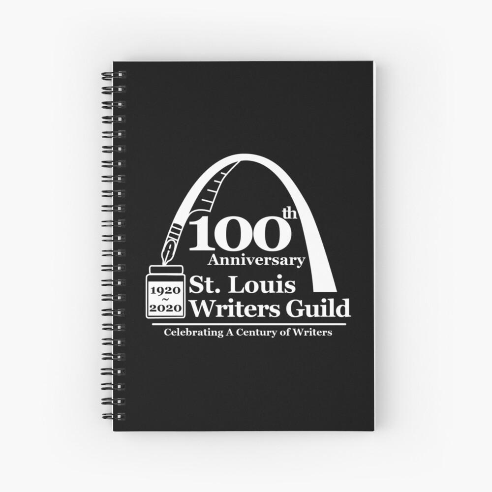 St. Louis Writers Guild 100th Anniv - Logo White Spiral Notebook