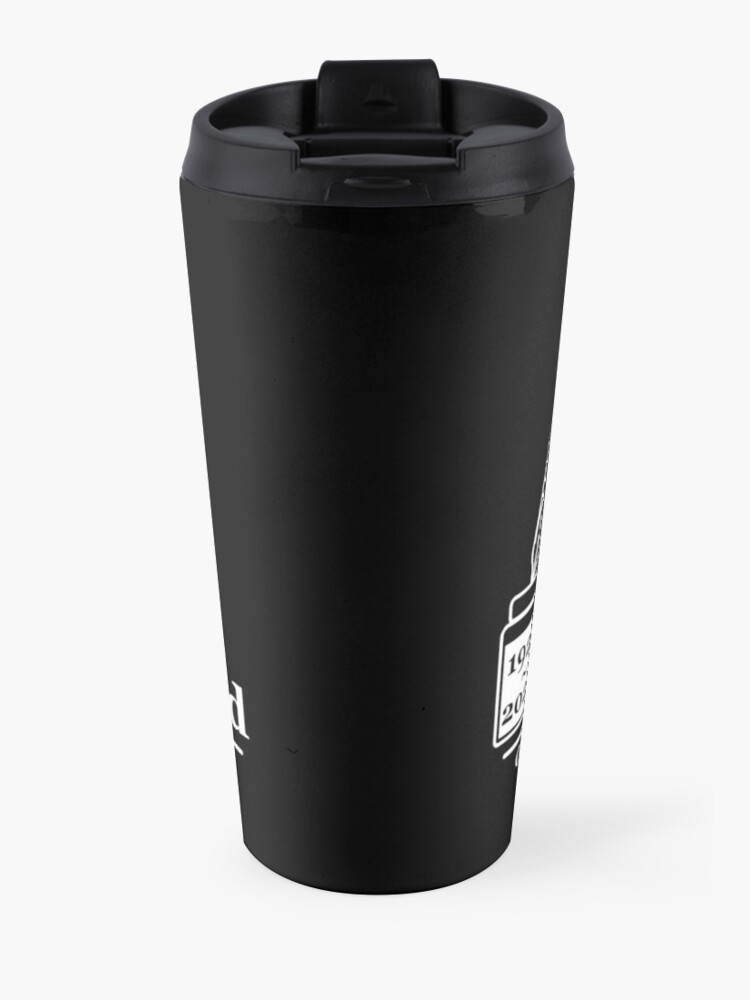 Alternate view of St. Louis Writers Guild 100th Anniv - Logo White Travel Mug