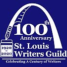 St. Louis Writers Guild 100th Anniv - Logo White by StLWritersGuild