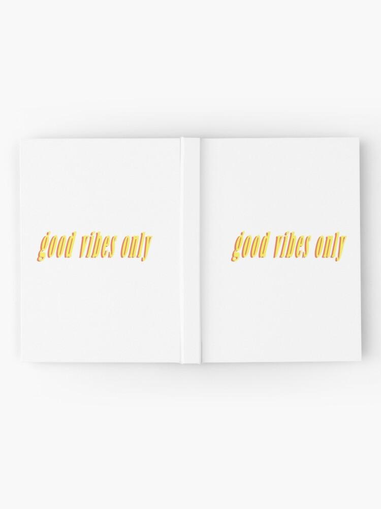 Alternative Ansicht von Nur gute Schwingungen Notizbuch