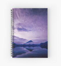 Mount Fuji under an infrared night sky Spiral Notebook