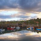 Crail Harbour Reflections by KitDowney