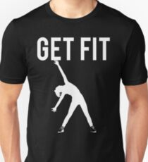 Get Fit Exercise Motivation Burpees Squats Lifting T-Shirt