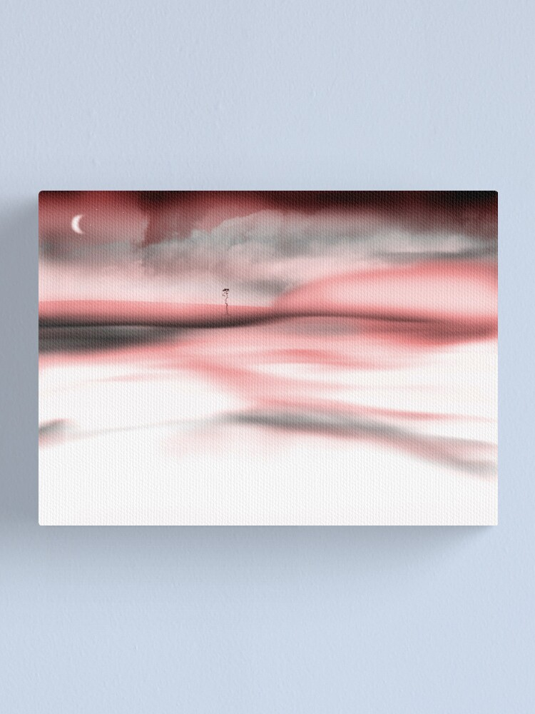 Alternate view of Red Moon Fog Canvas Print