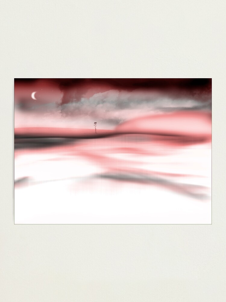 Alternate view of Red Moon Fog Photographic Print