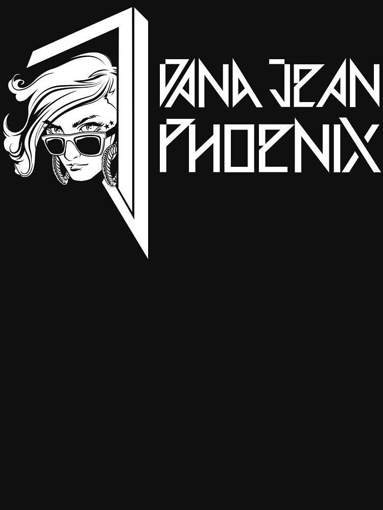 Dana Jean Phoenix - Synthwave Logo in White by DanaJeanPhoenix