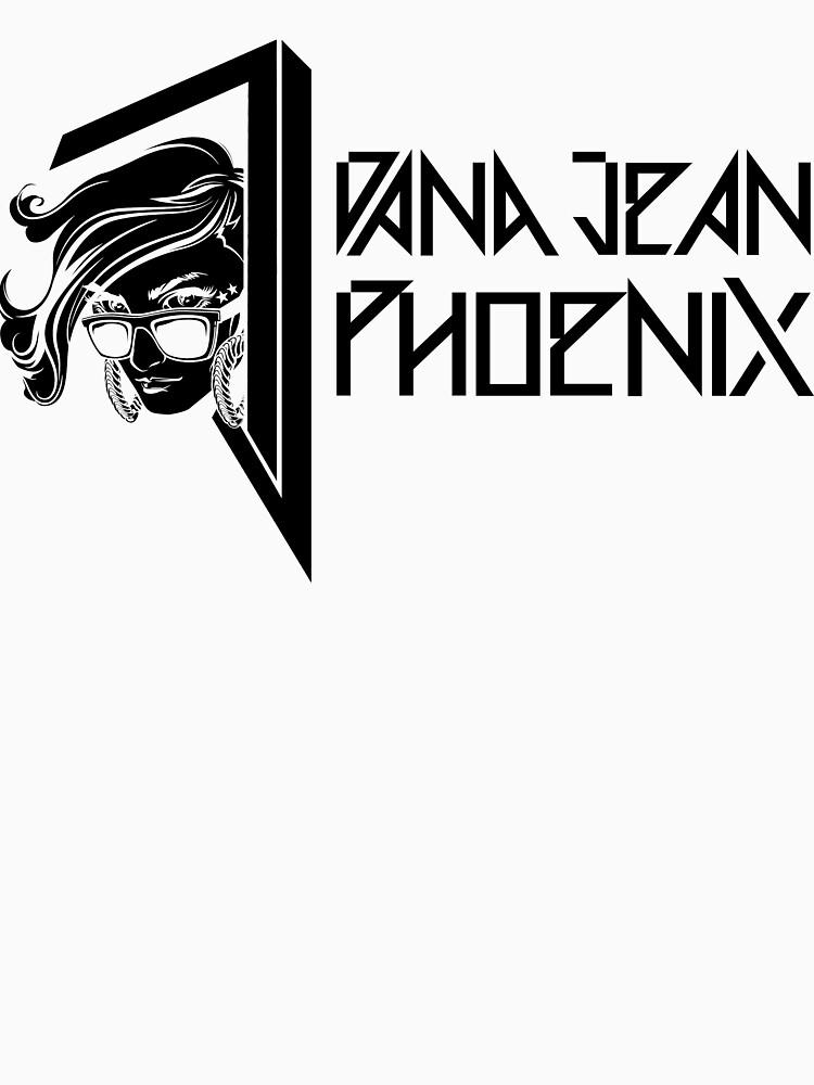 Dana Jean Phoenix - Synthwave Logo in Black by DanaJeanPhoenix