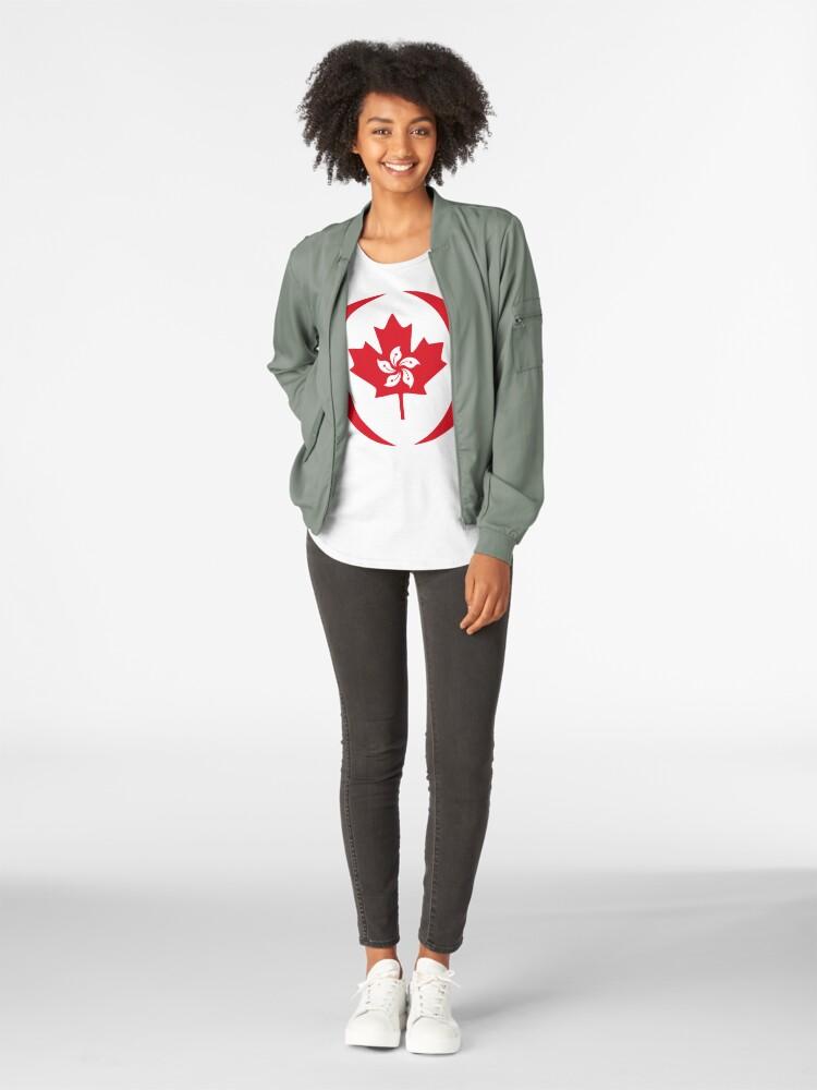 Alternate view of Hong Konger Canadian Multinational Patriot Flag Series Premium Scoop T-Shirt