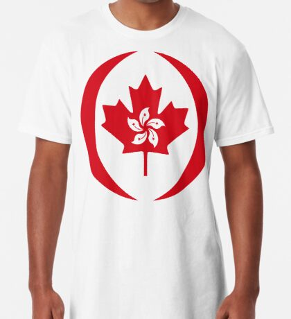 Hong Konger Canadian Multinational Patriot Flag Series Long T-Shirt