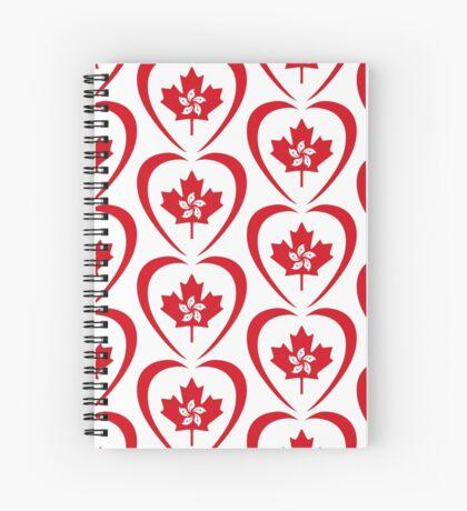 Hong Konger Canadian Multinational Patriot Flag Series (Heart) Spiral Notebook