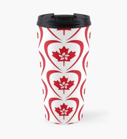 Hong Konger Canadian Multinational Patriot Flag Series (Heart) Travel Mug
