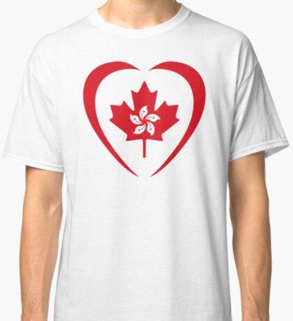 Hong Konger Canadian Multinational Patriot Flag Series (Heart) Classic T-Shirt