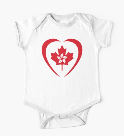 Hong Konger Canadian Multinational Patriot Flag Series (Heart) Kids Clothes