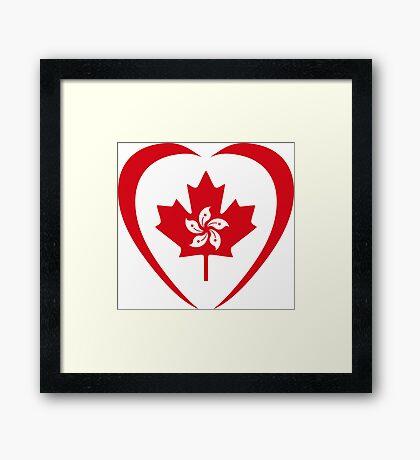 Hong Konger Canadian Multinational Patriot Flag Series (Heart) Framed Print
