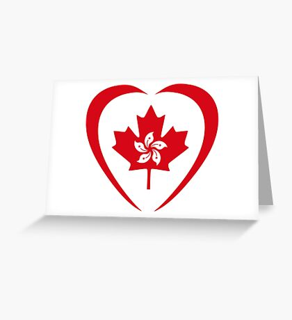 Hong Konger Canadian Multinational Patriot Flag Series (Heart) Greeting Card