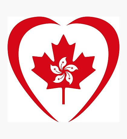 Hong Konger Canadian Multinational Patriot Flag Series (Heart) Photographic Print