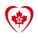Hong Konger Canadian Multinational Patriot Flag Series (Heart) by Carbon-Fibre Media
