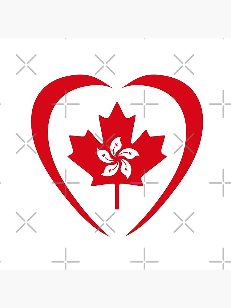 Hong Konger Canadian Multinational Patriot Flag Series (Heart) by carbonfibreme