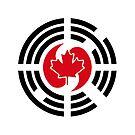 Korean Canadian Multinational Patriot Flag Series by Carbon-Fibre Media
