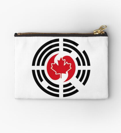 Korean Canadian Multinational Patriot Flag Series Zipper Pouch