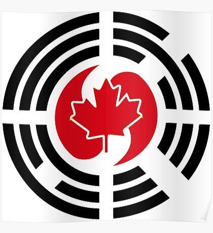 Korean Canadian Multinational Patriot Flag Series Poster
