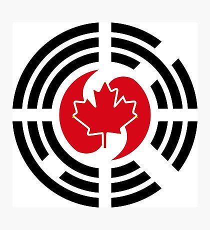 Korean Canadian Multinational Patriot Flag Series Photographic Print