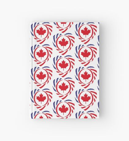 Canadian American Multinational Patriot Flag Series (Heart) Hardcover Journal