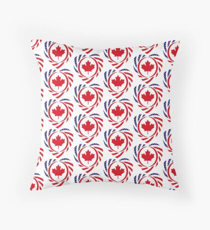 Canadian American Multinational Patriot Flag Series (Heart) Floor Pillow