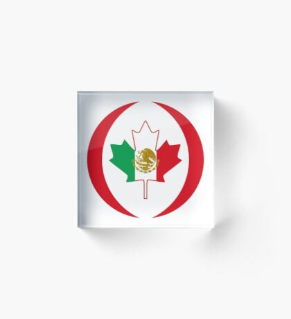 Mexican Canadian Multinational Patriot Flag Series Acrylic Block