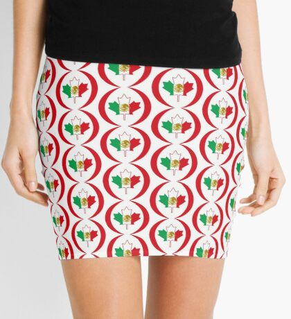 Mexican Canadian Multinational Patriot Flag Series Mini Skirt