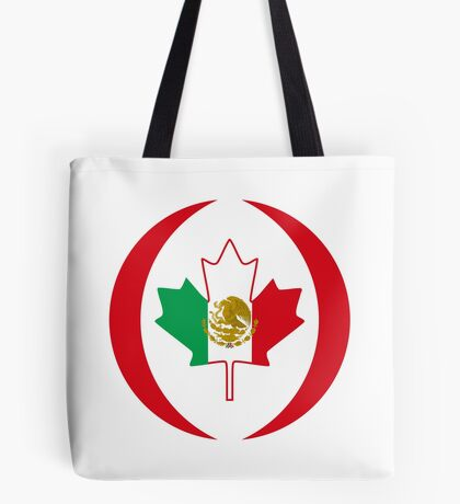 Mexican Canadian Multinational Patriot Flag Series Tote Bag