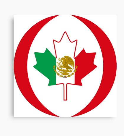 Mexican Canadian Multinational Patriot Flag Series Canvas Print
