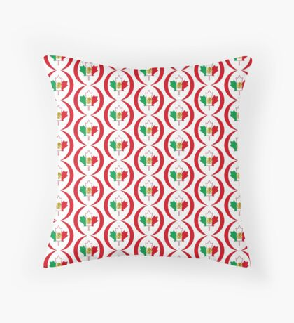 Mexican Canadian Multinational Patriot Flag Series Floor Pillow