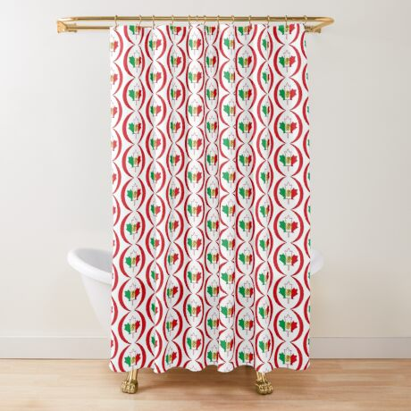Mexican Canadian Multinational Patriot Flag Series Shower Curtain