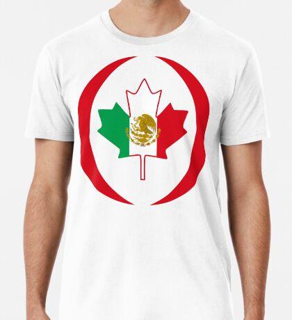 Mexican Canadian Multinational Patriot Flag Series Premium T-Shirt