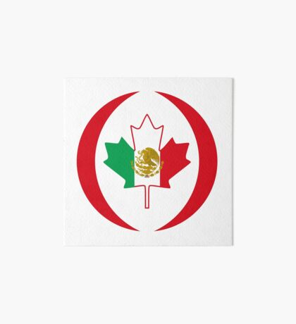 Mexican Canadian Multinational Patriot Flag Series Art Board Print