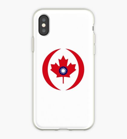 Taiwanese Canadian Multinational Patriot Flag Series iPhone Case