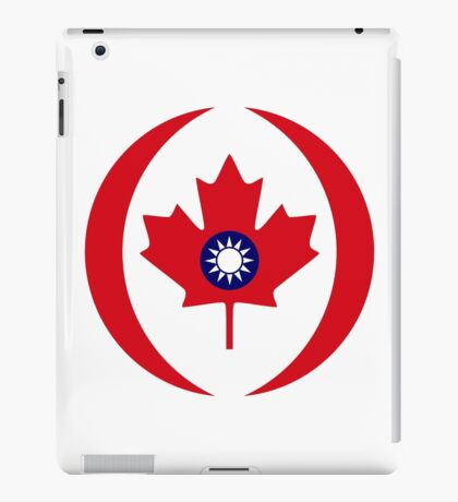 Taiwanese Canadian Multinational Patriot Flag Series iPad Case/Skin