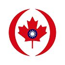 Taiwanese Canadian Multinational Patriot Flag Series by Carbon-Fibre Media