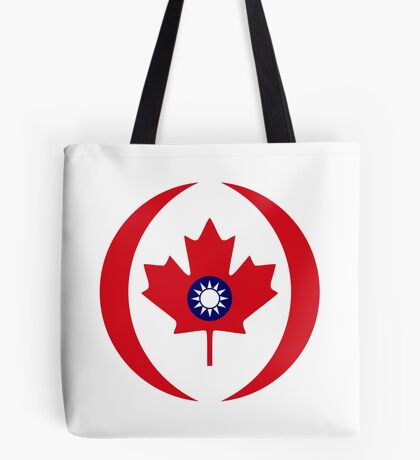 Taiwanese Canadian Multinational Patriot Flag Series Tote Bag