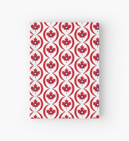 Taiwanese Canadian Multinational Patriot Flag Series Hardcover Journal