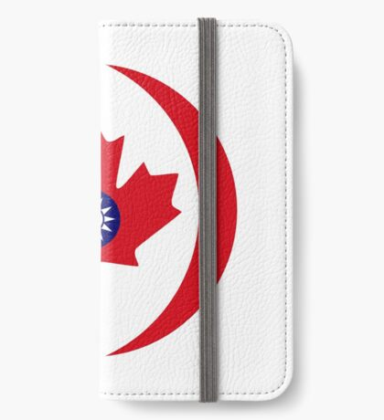 Taiwanese Canadian Multinational Patriot Flag Series iPhone Wallet