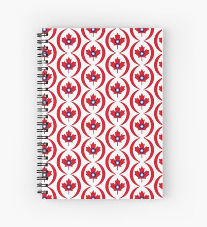 Taiwanese Canadian Multinational Patriot Flag Series Spiral Notebook