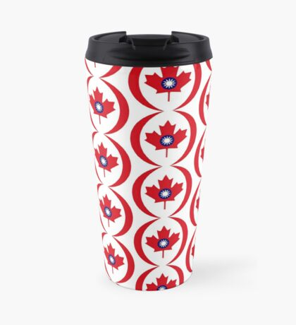 Taiwanese Canadian Multinational Patriot Flag Series Travel Mug