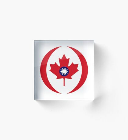 Taiwanese Canadian Multinational Patriot Flag Series Acrylic Block