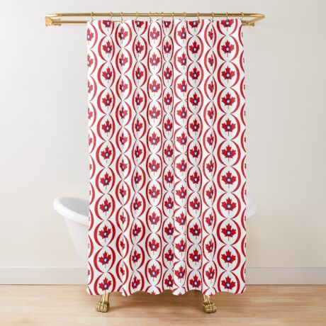 Taiwanese Canadian Multinational Patriot Flag Series Shower Curtain
