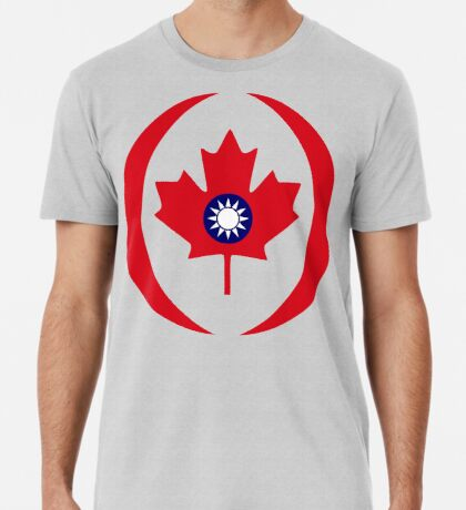 Taiwanese Canadian Multinational Patriot Flag Series Premium T-Shirt