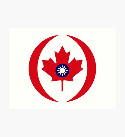 Taiwanese Canadian Multinational Patriot Flag Series Art Print