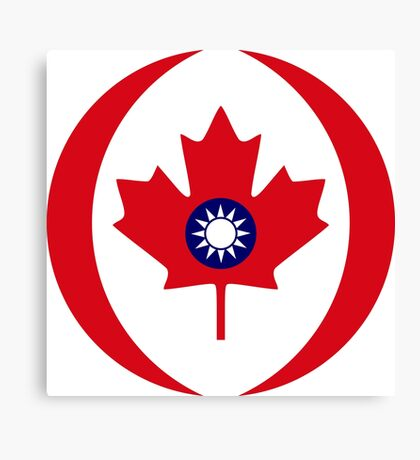 Taiwanese Canadian Multinational Patriot Flag Series Canvas Print
