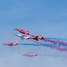 Red Arrows over Weston-super-Mare by Jens Roesner